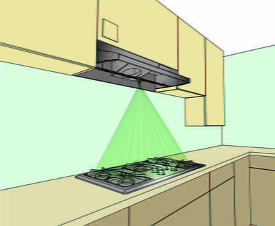 Complete system for 240V electric stove/cooktop with 30″ wide range hood Canada